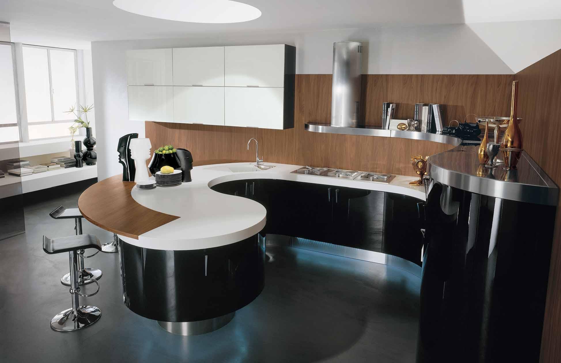 Оригинальная кухня в стиле модерн