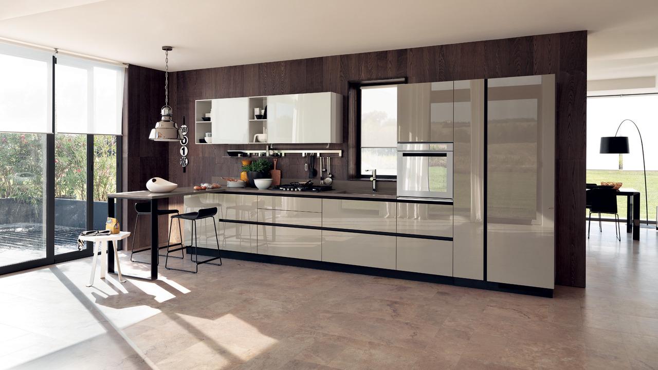 Рулонные шторы на кухне в стиле модерн