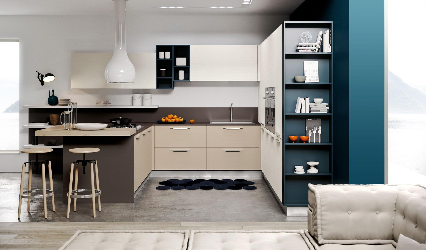 Современная гостиная-кухня