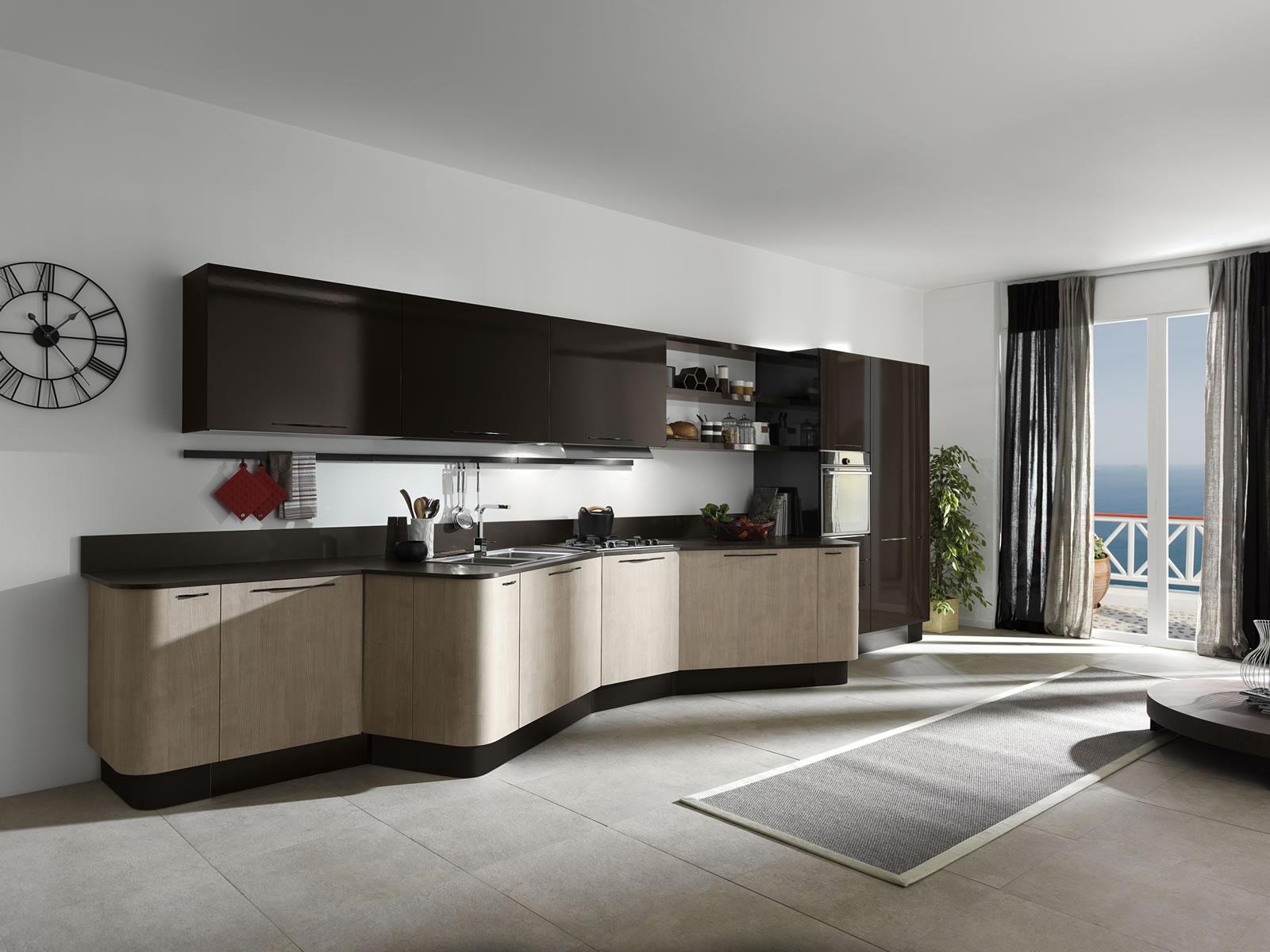 Необычный дизайн современной кухни
