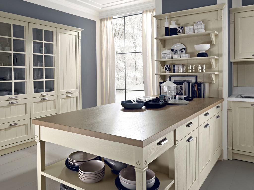 Удобная стойка на кухне в стиле прованс