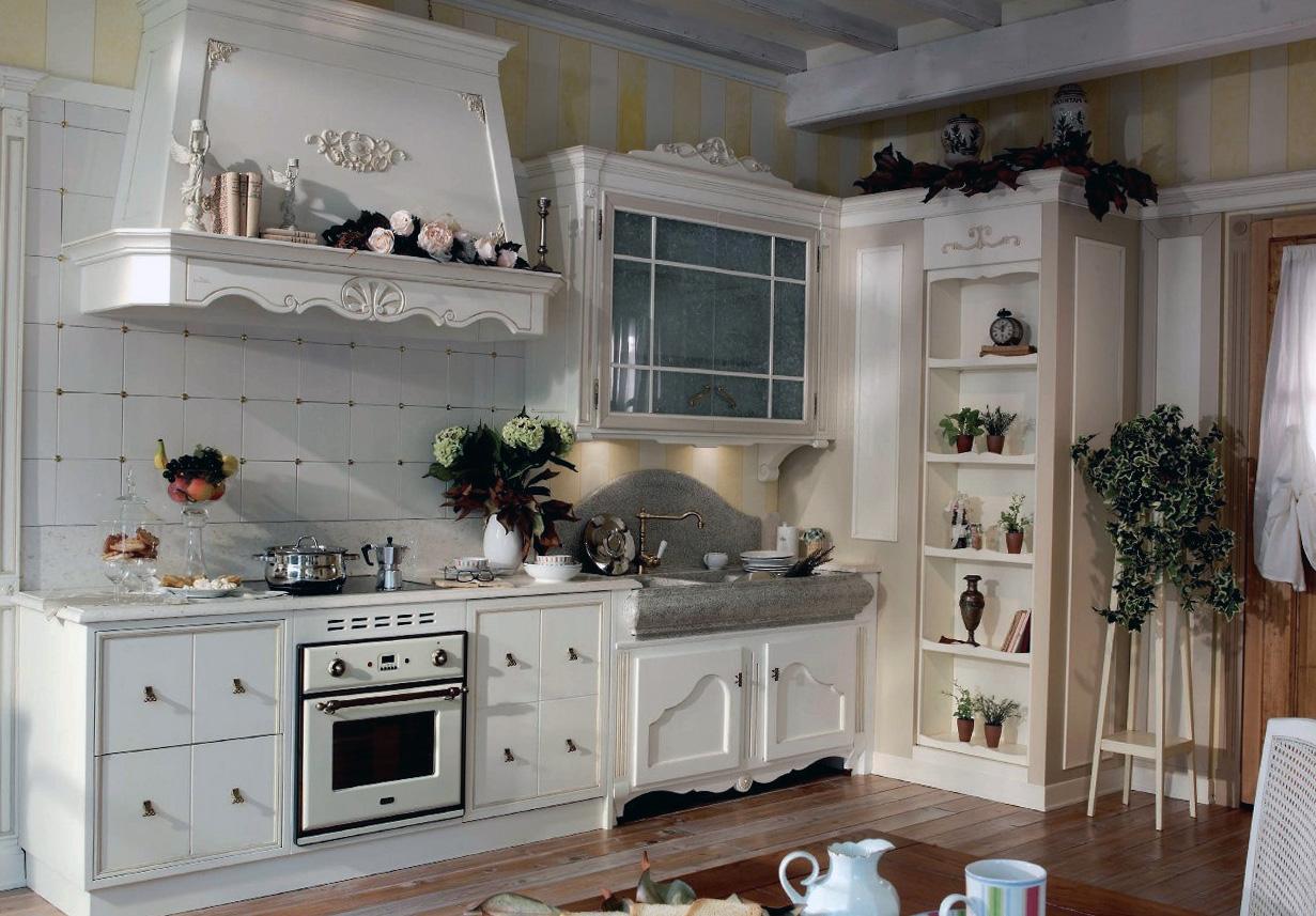 Кухня в стиле прованс в белых тонах