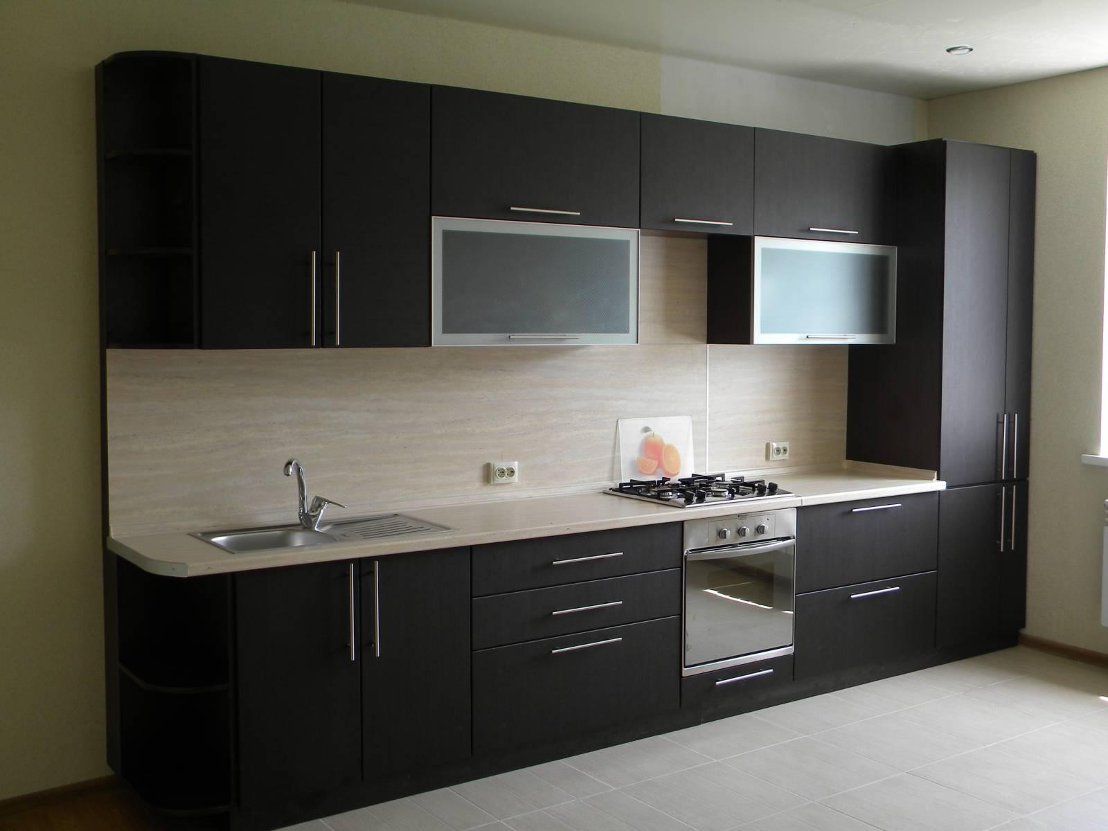 Черная кухня венге
