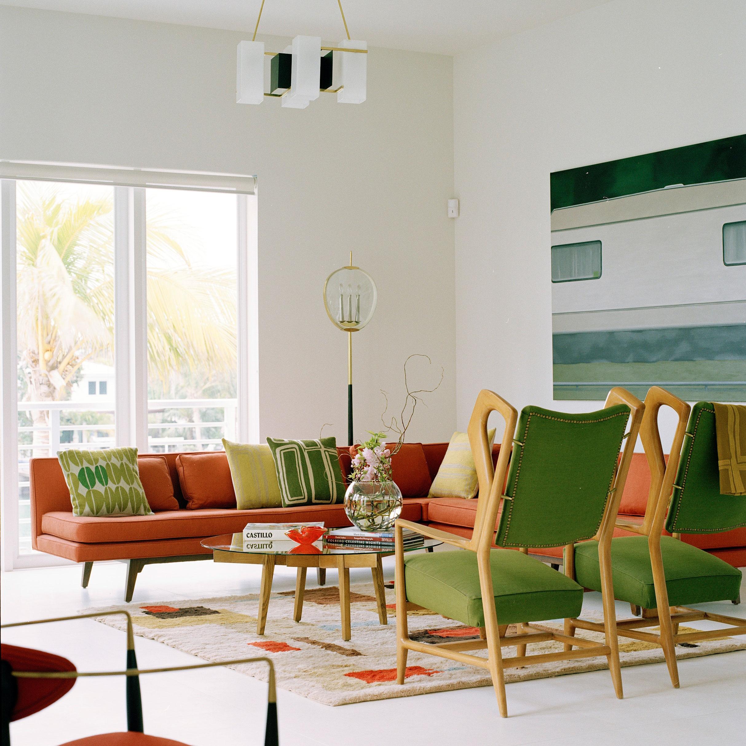 Оливковая мебель в интерьере