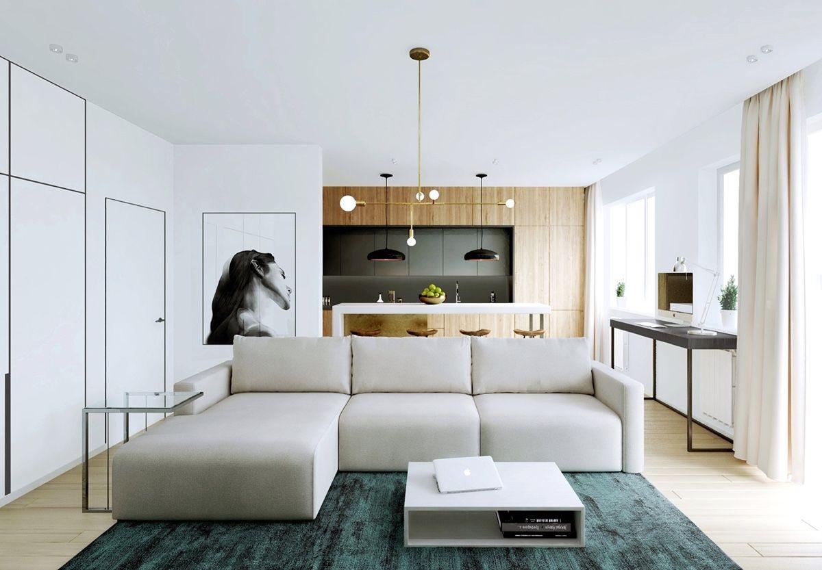 Дерево в интерьере с мебелью