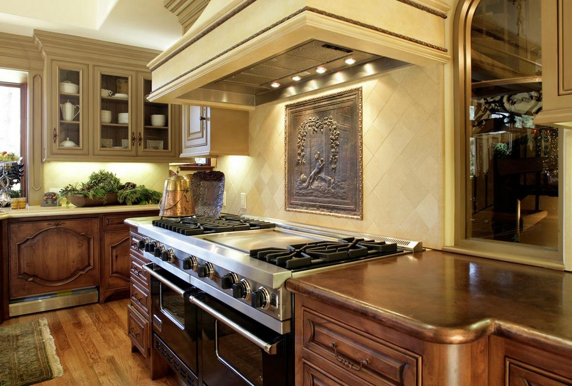 Металлическая гравюра на кухне