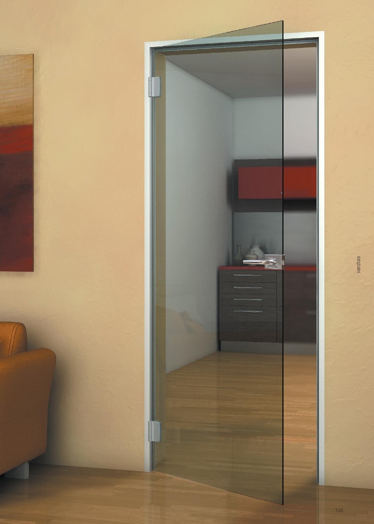 Межкомнатная стеклянная дверь на кухню