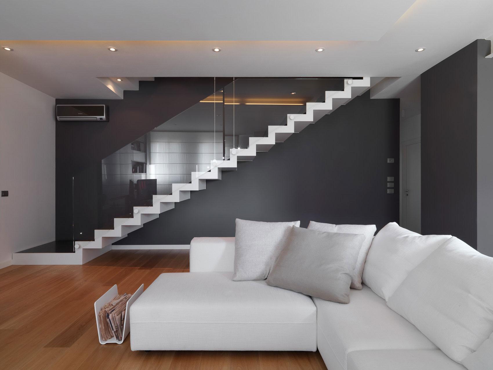 Строгие линии и простые цвета в интерьере в стиле минимализм