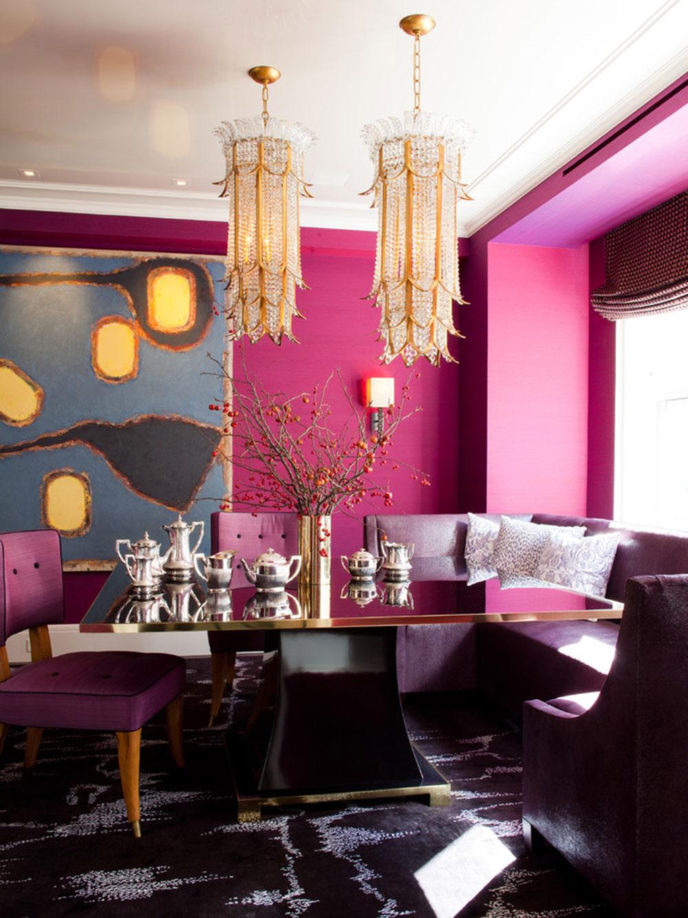 Розовый интерьер в стиле модерн