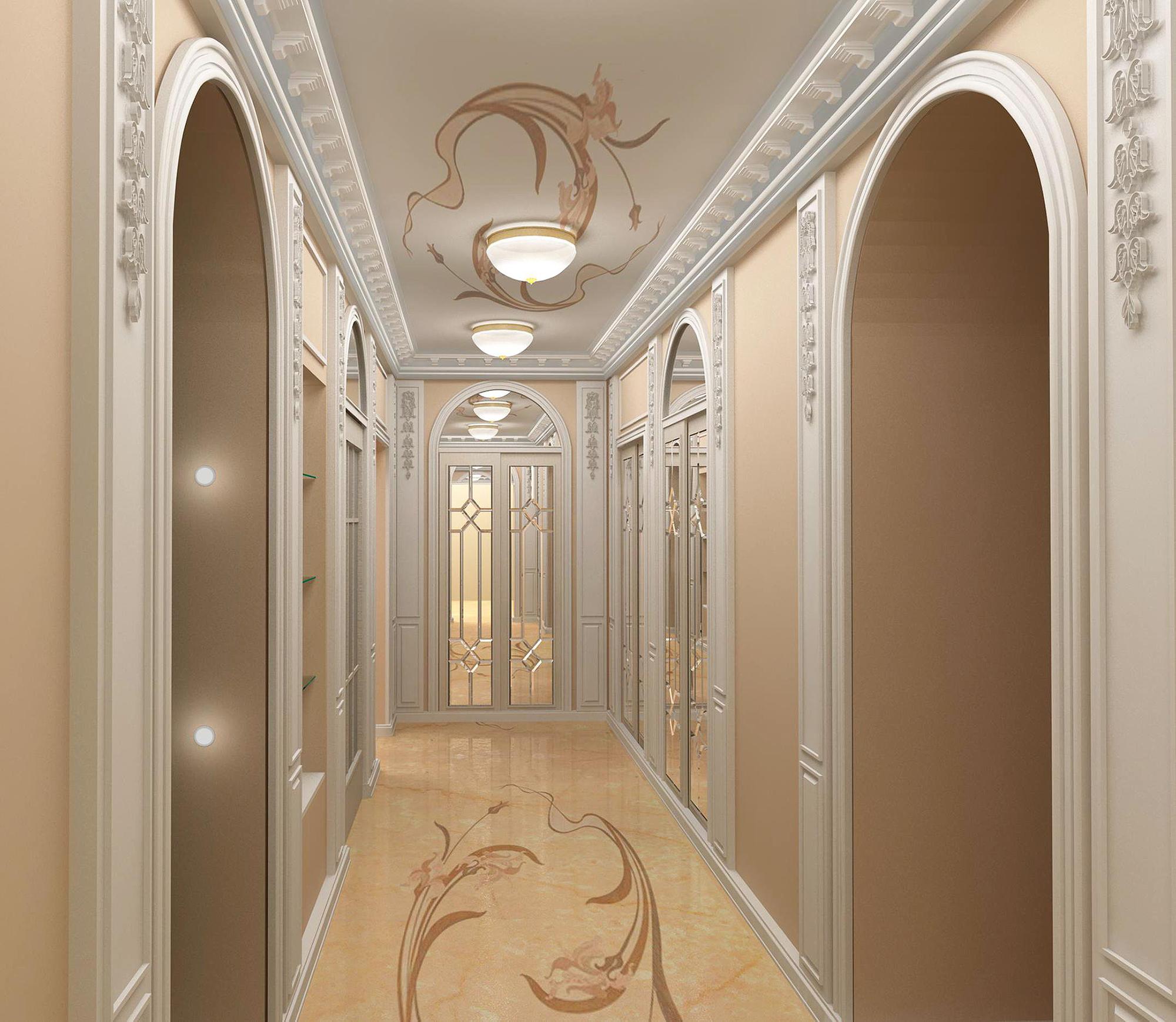 Молдинги в коридоре