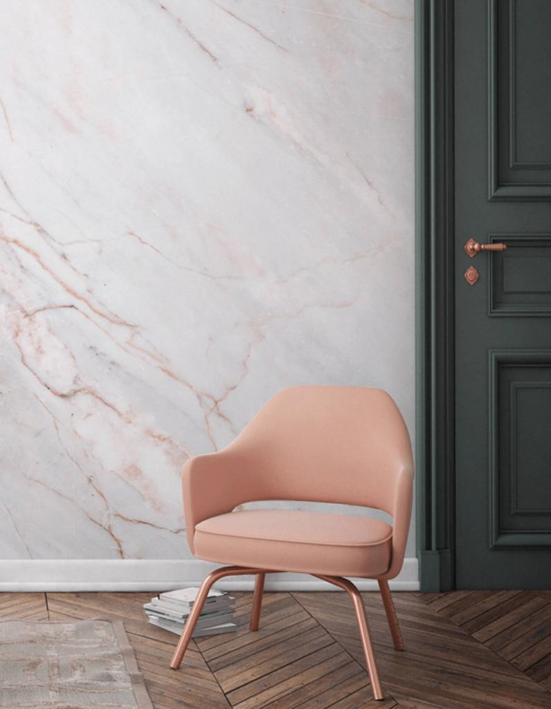 Розовый мрамор в интерьере