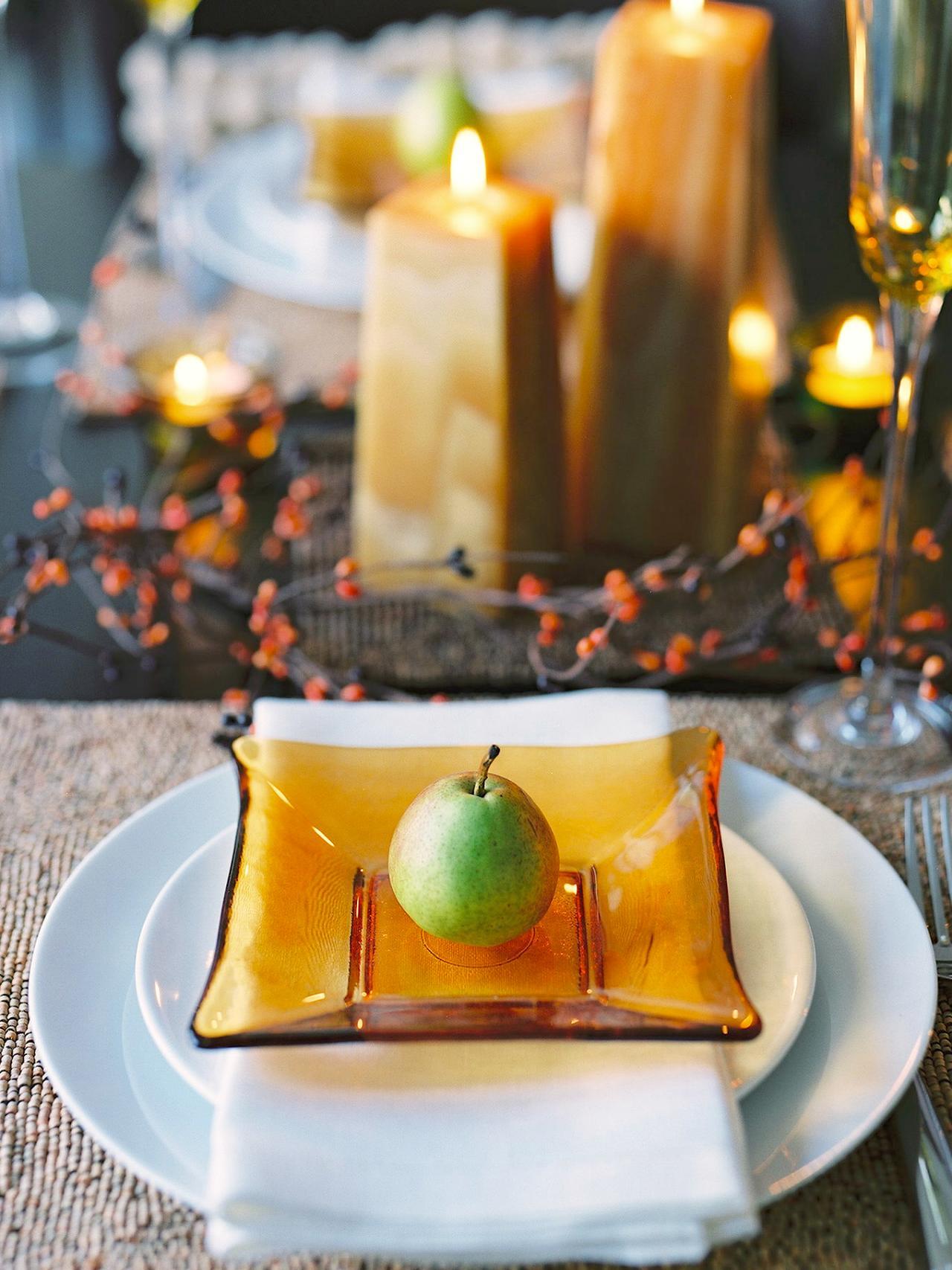 Сервировка осеннего стола