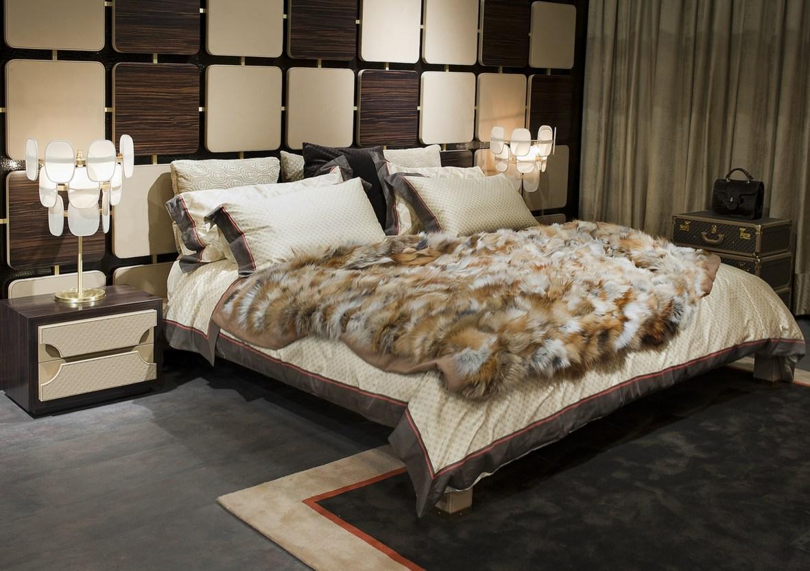 Красивая спальня в охотничьем стиле