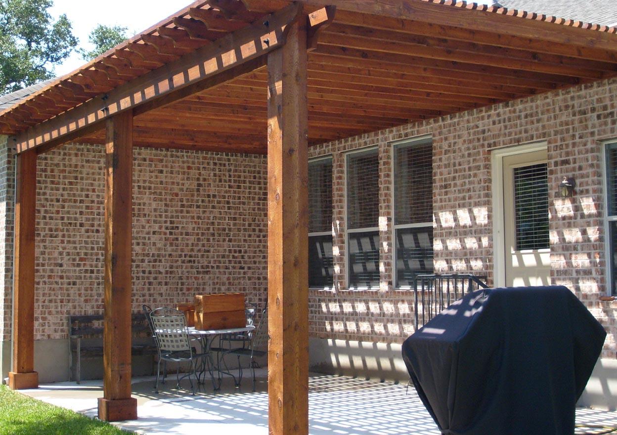 Козырек пергола над входом