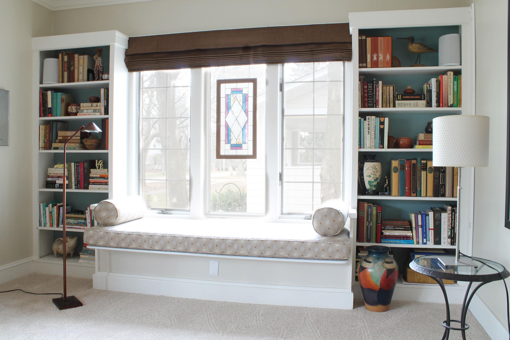 Большой подоконник-диван - отличное место для чтения