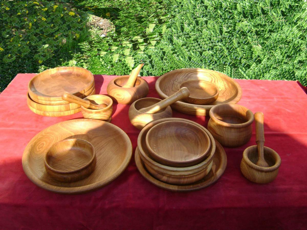 Экологичная деревянная посуда