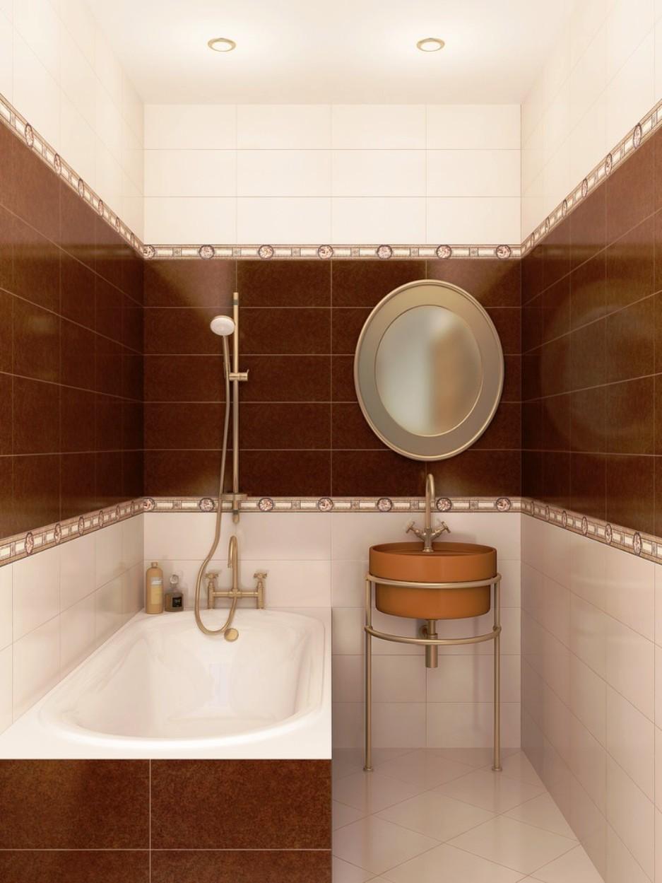 Диагональная раскладка напольной плитки в ванной