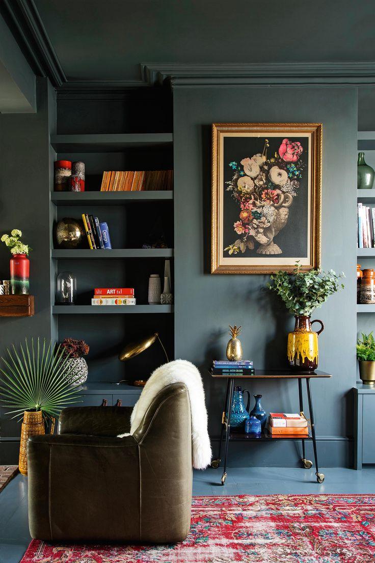 Сочетание цветов интерьере ретро
