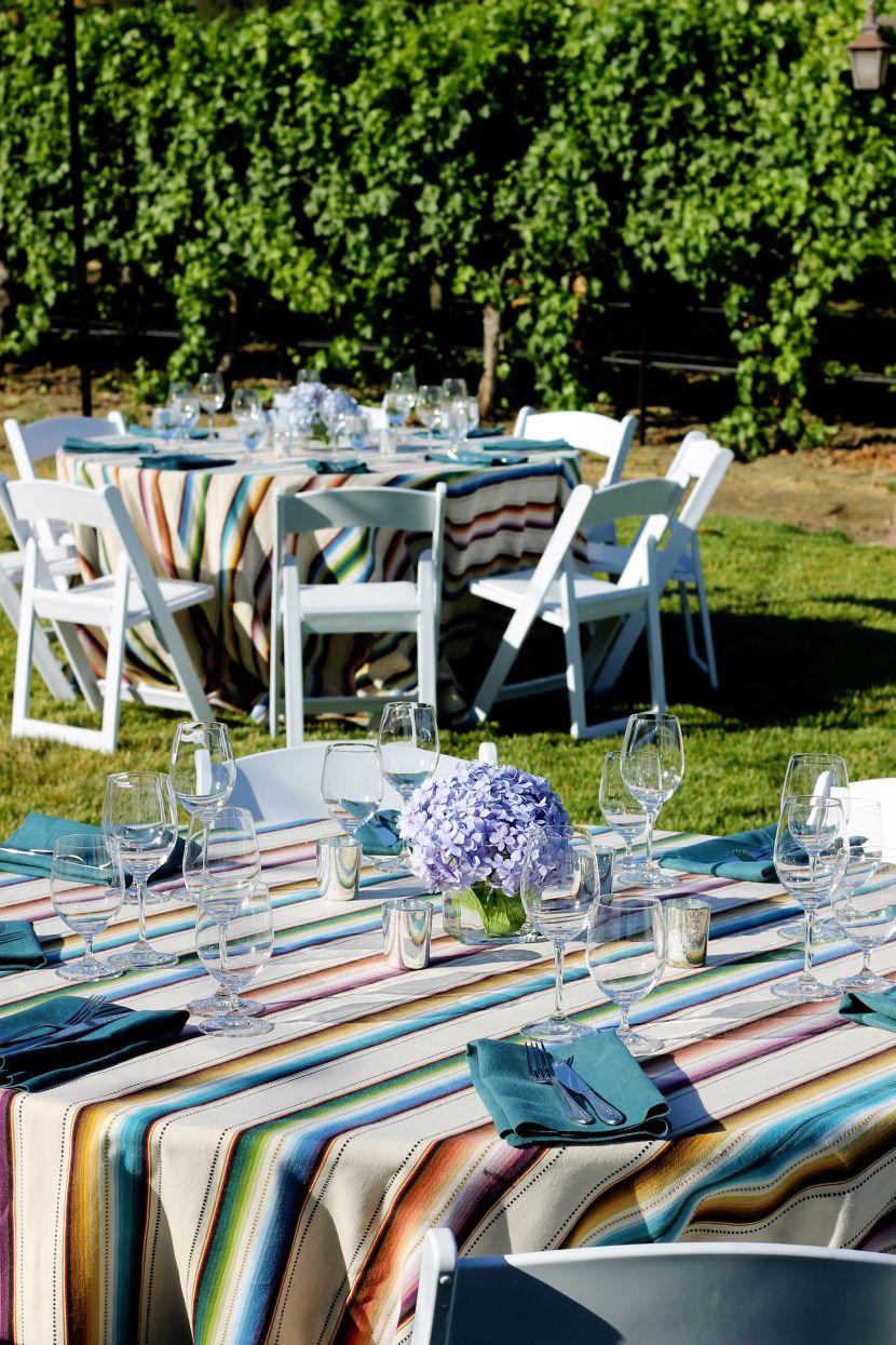 Сервировка стола в саду