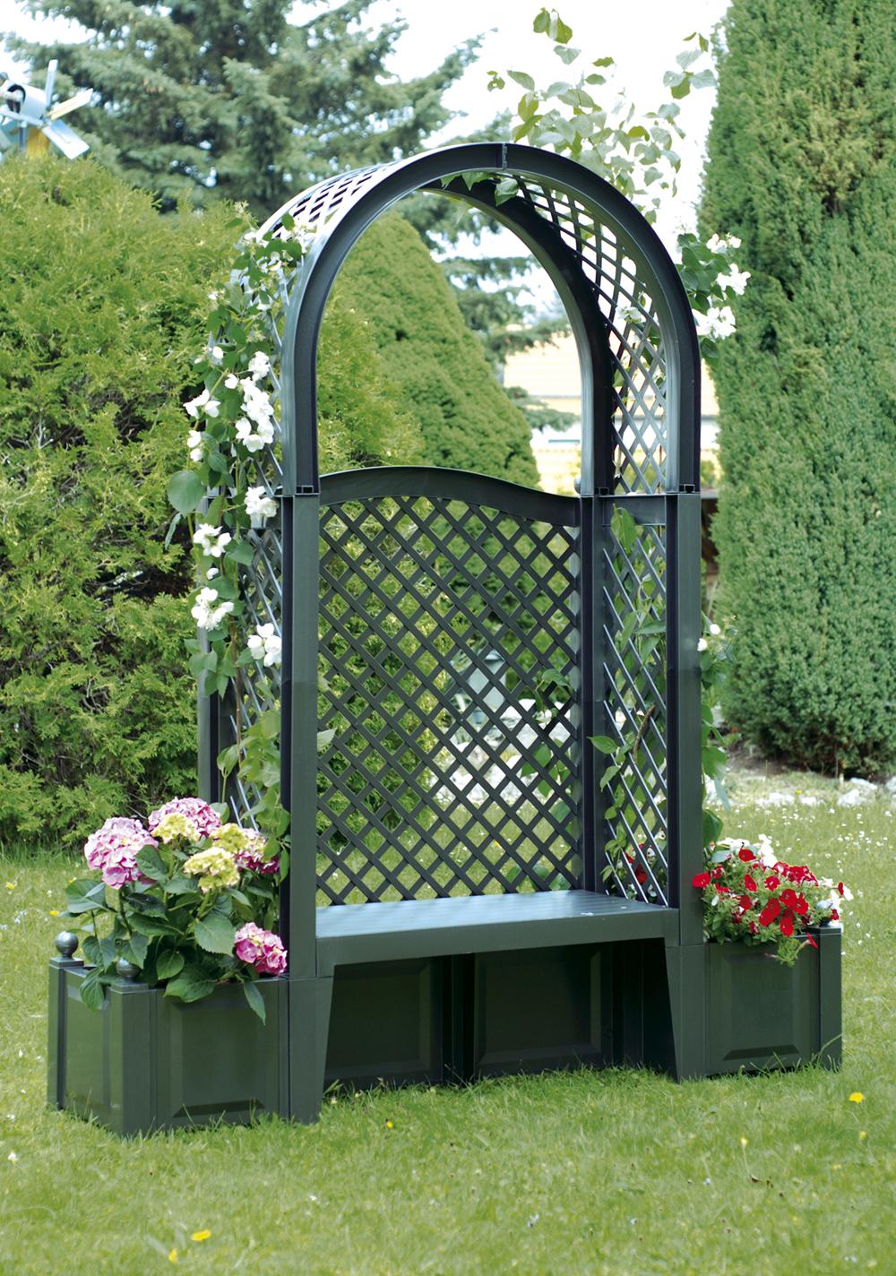 Компактная скамейка с аркой