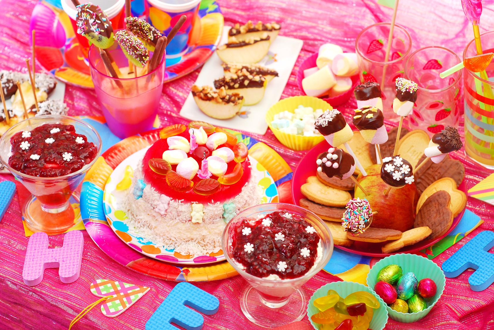 Сервировка детского стола на день рождения