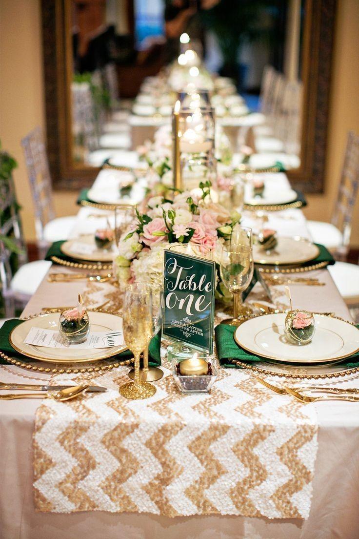 Сервировка свадебного стола в золотисто-бежевых тонах