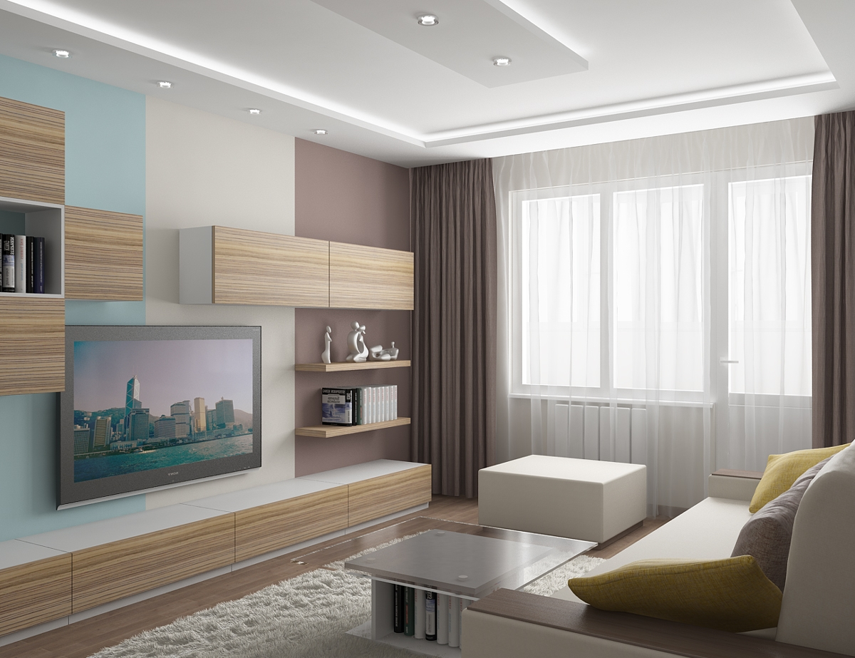 Уютная гостиная в современном стиле