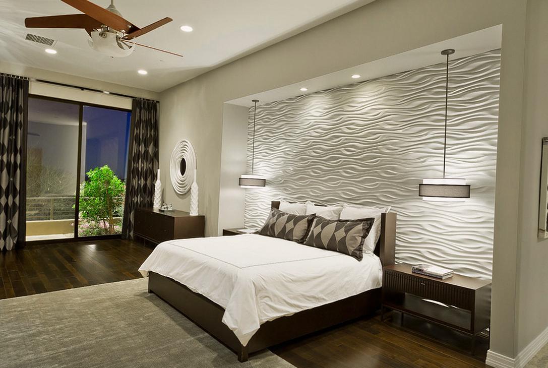 Просторная современная спальня