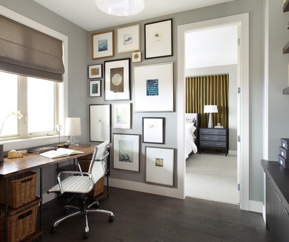 Современный стиль в оформлении кабинета