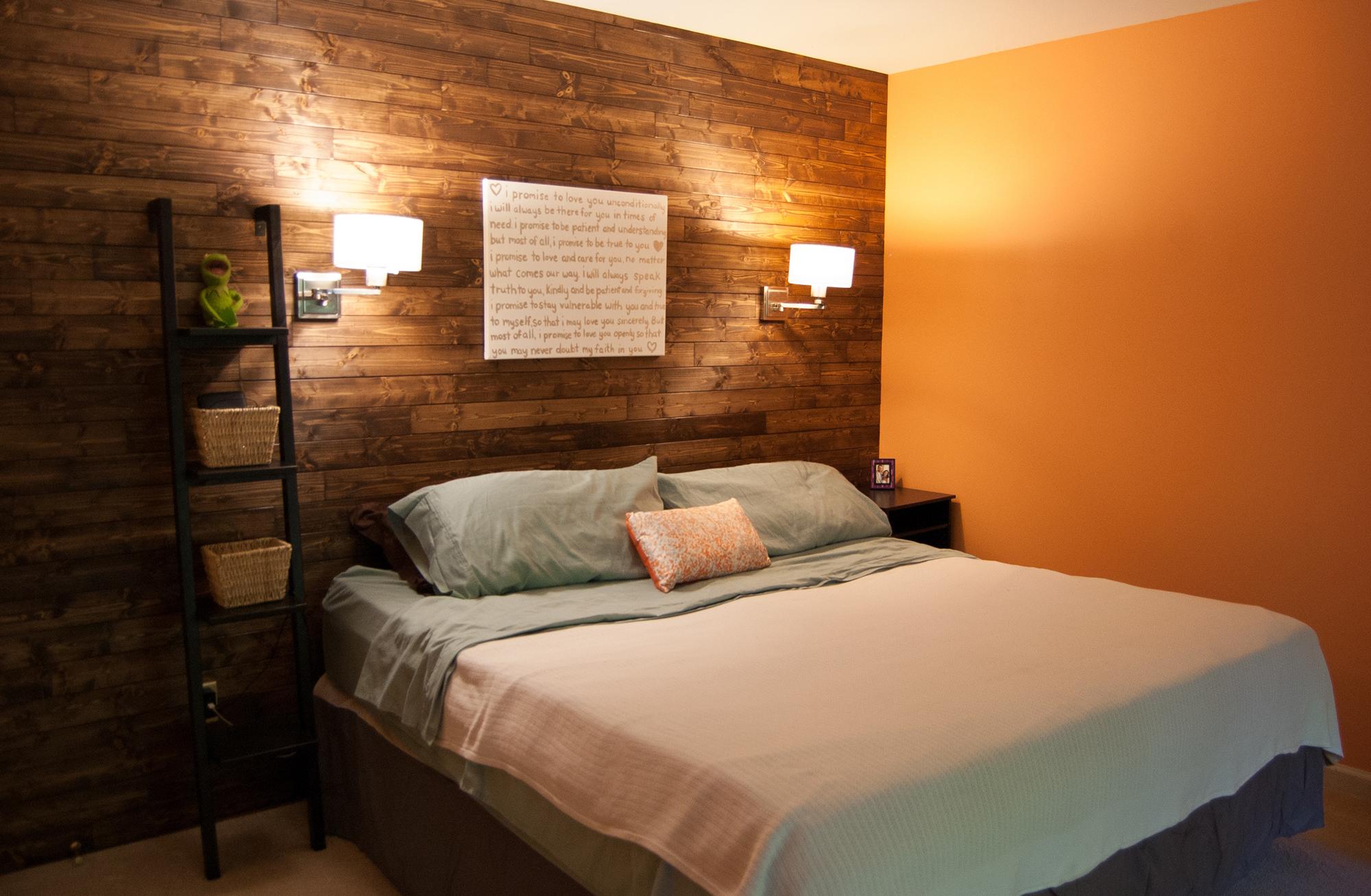 Настенные лампы в спальне