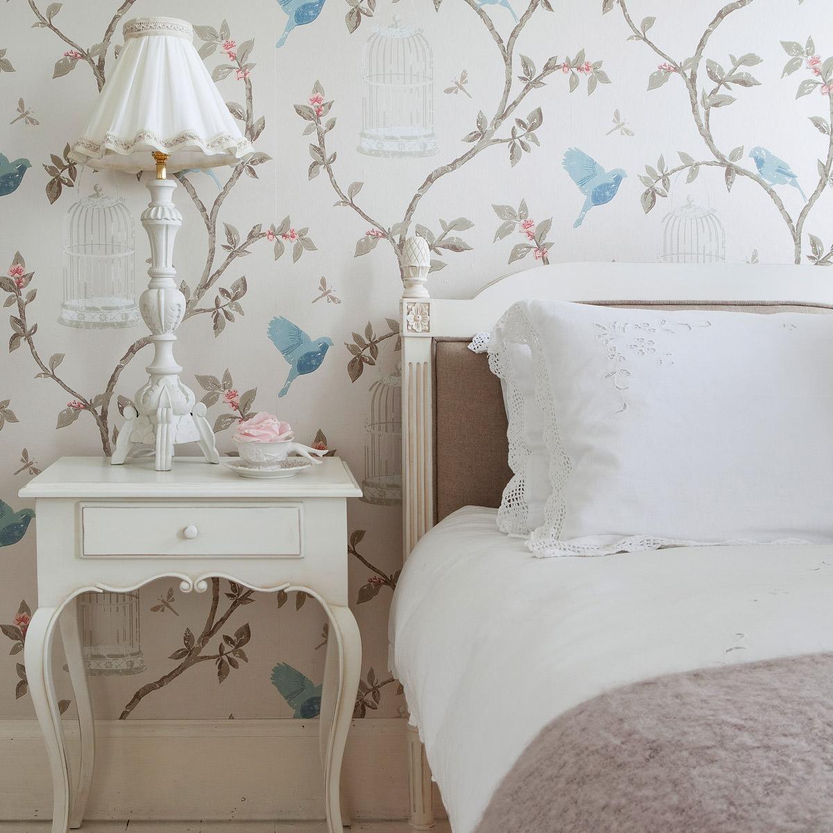 Красивые детали в спальне в стиле прованс