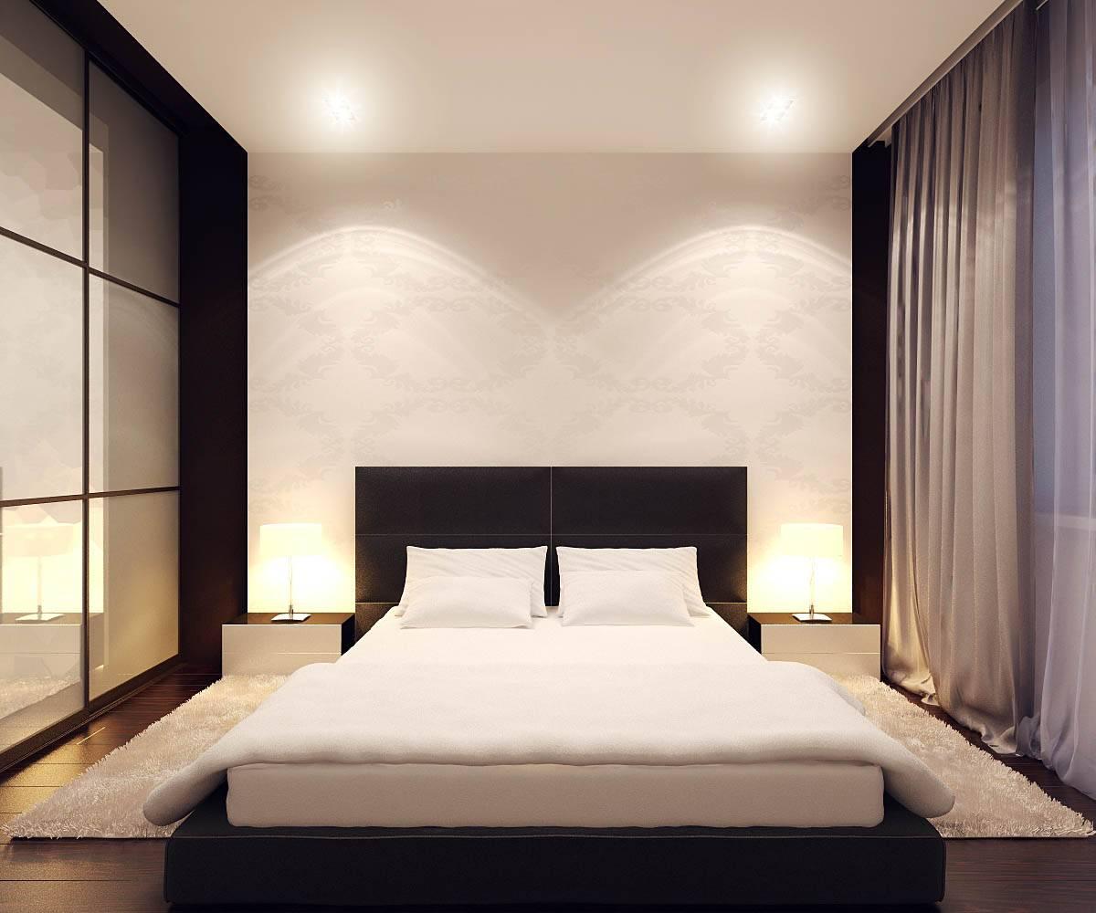Уютная небольшая спальня в современном стиле