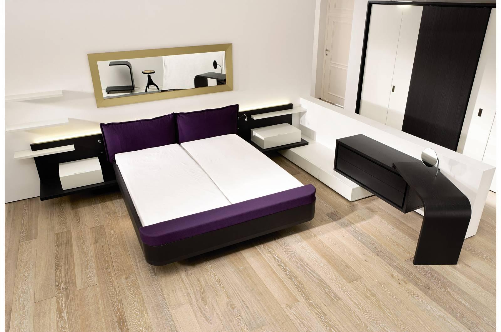 Черно-белый декор спальни в стиле модерн