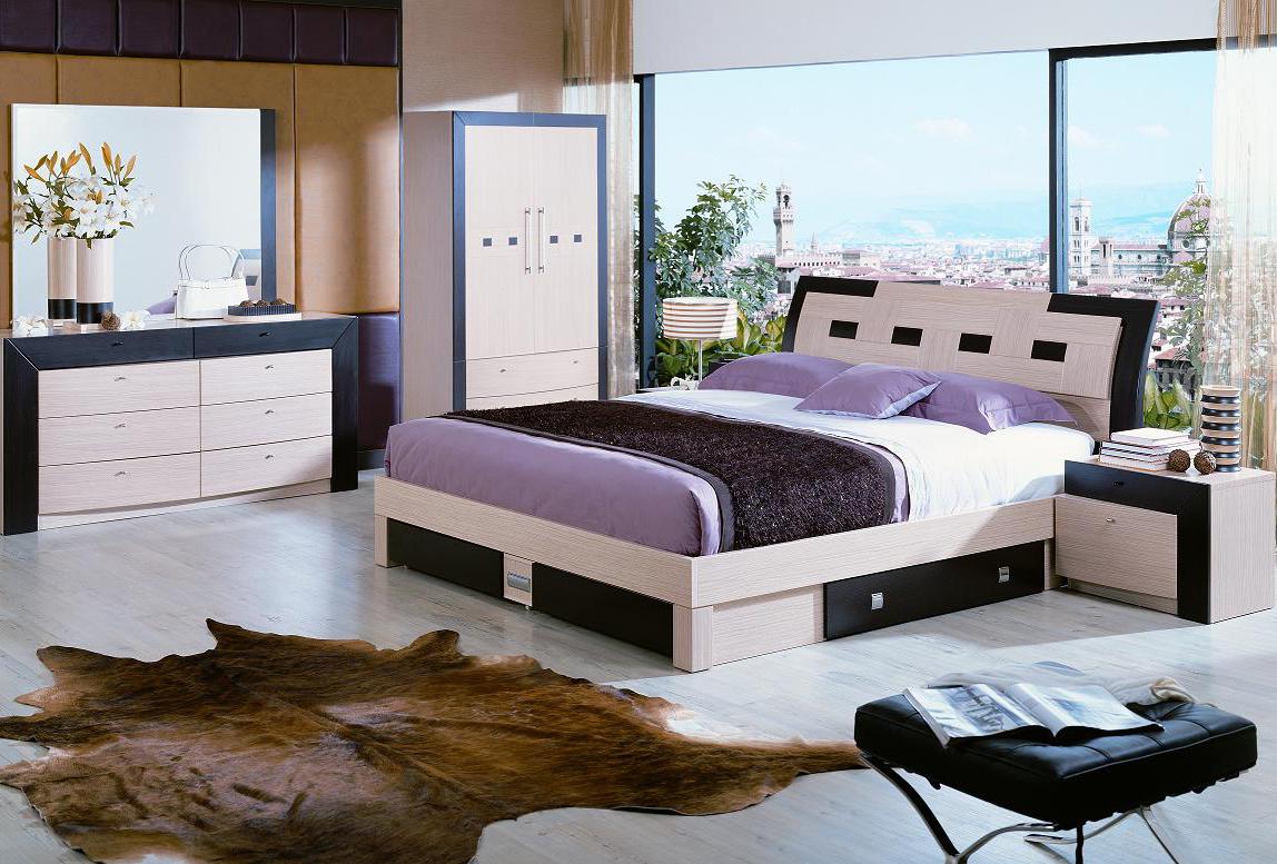 Элегантный интерьер спальни в стиле модерн