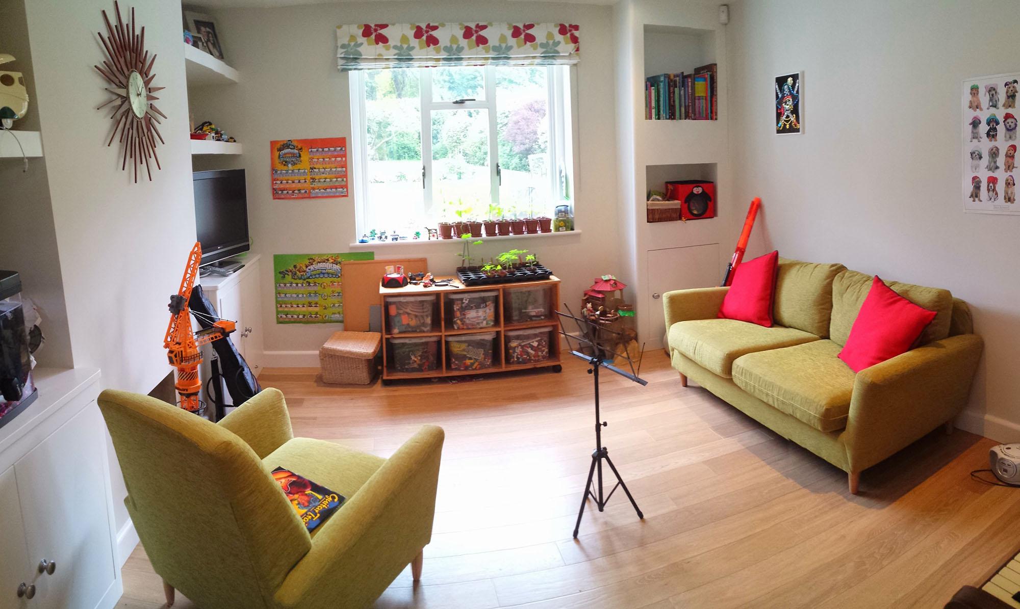 Детская комната с элементами стиля фьюжн