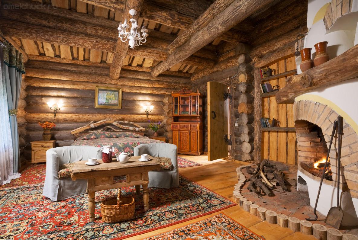 Модная спальня в стиле кантри