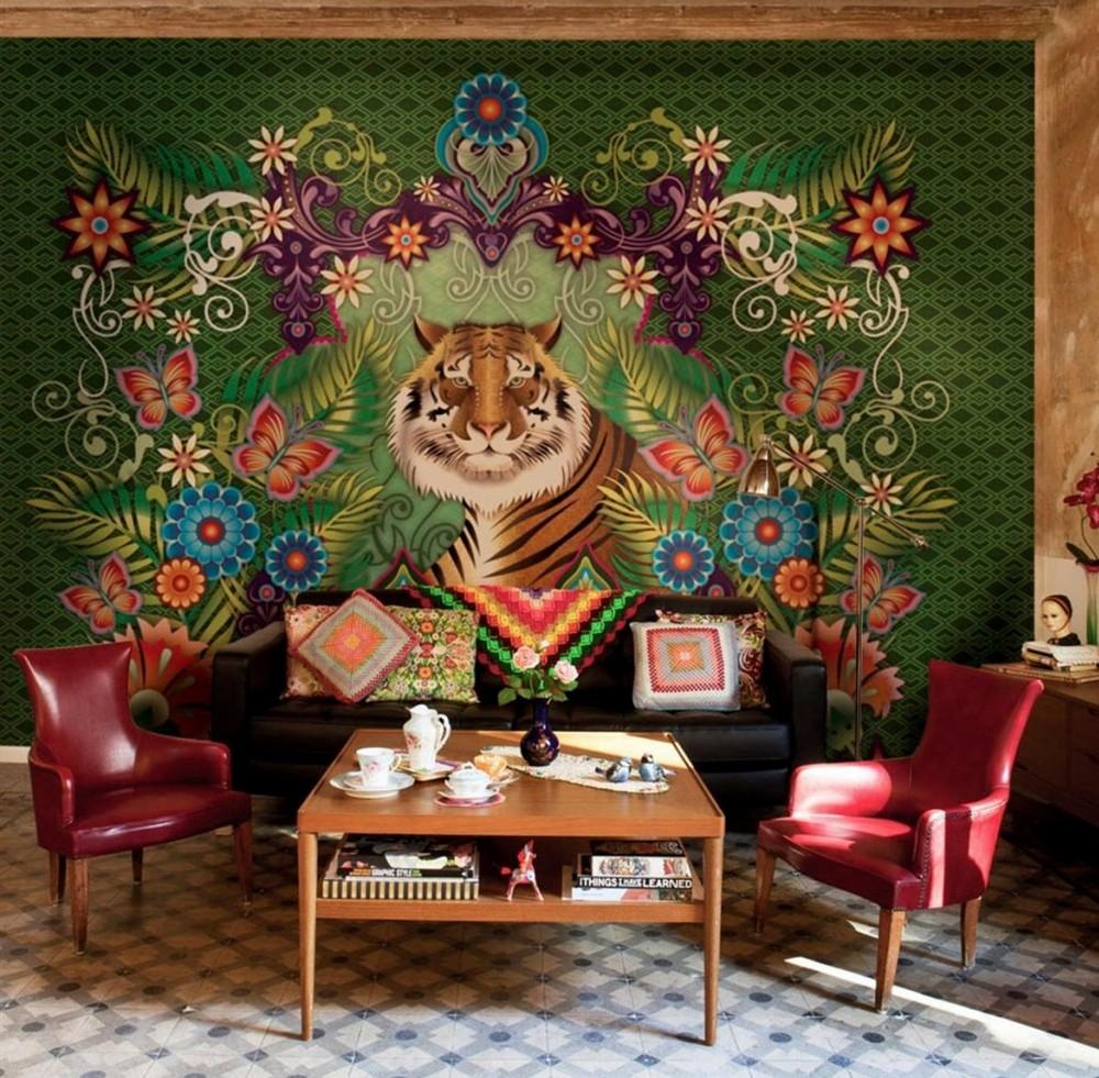 Псевдо-роскошный китч в интерьере гостиной