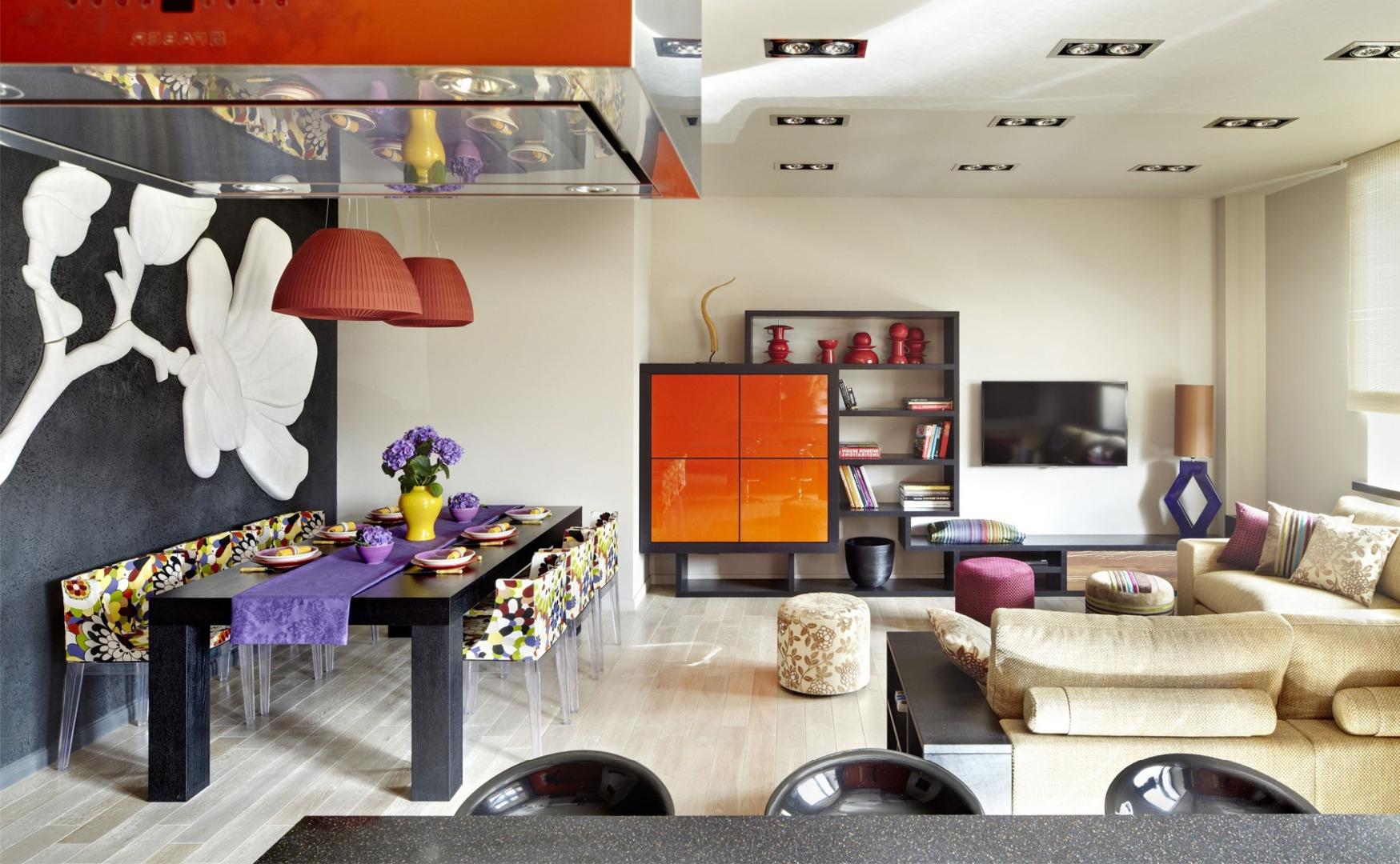 Дизайнерский Китч в гостиной-кухне