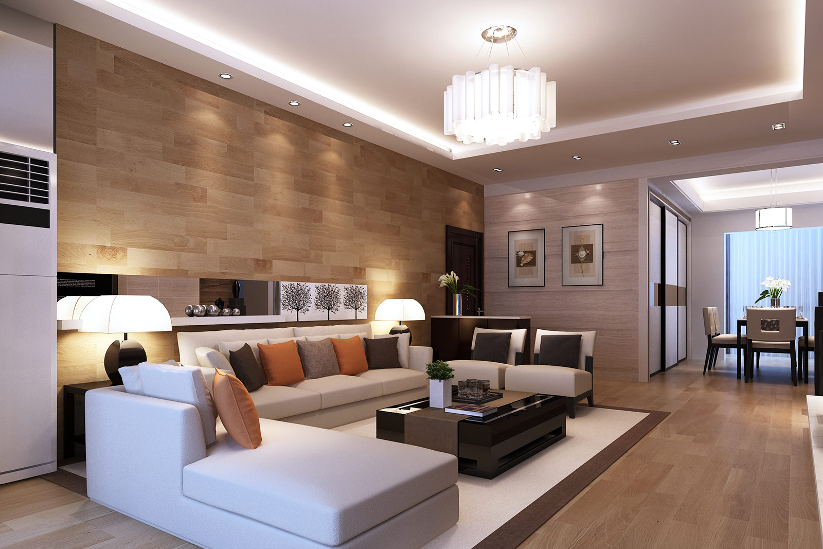 Изящный декор в квартире в стиле модерн