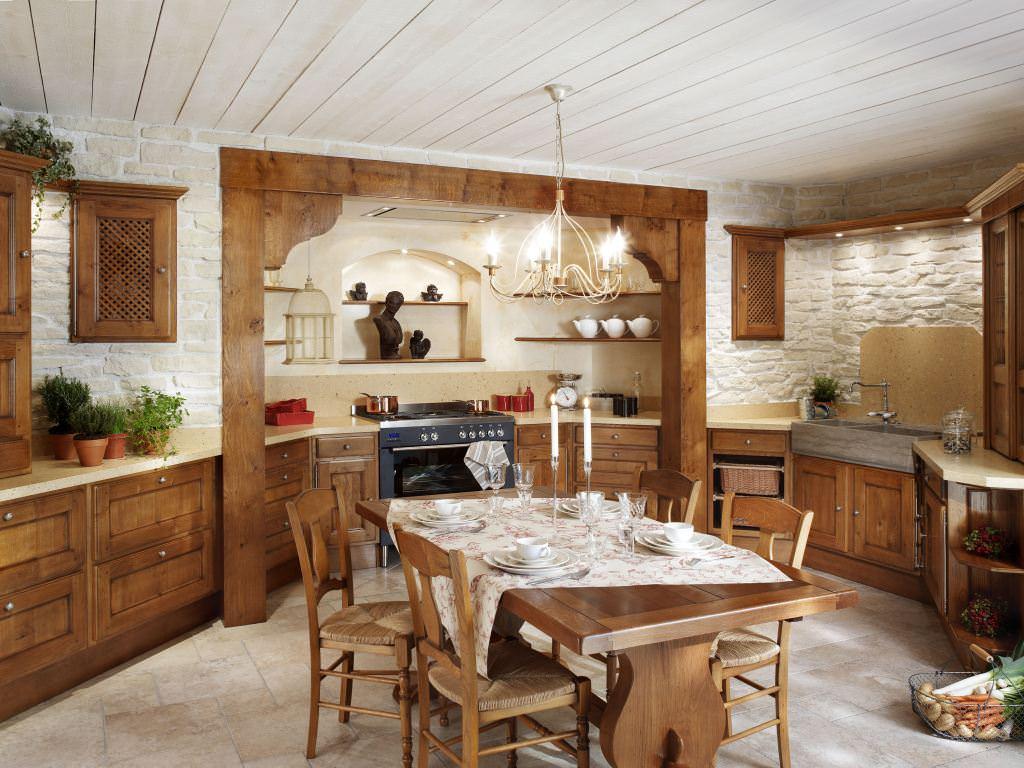 Кухня в стиле рустик в квартире
