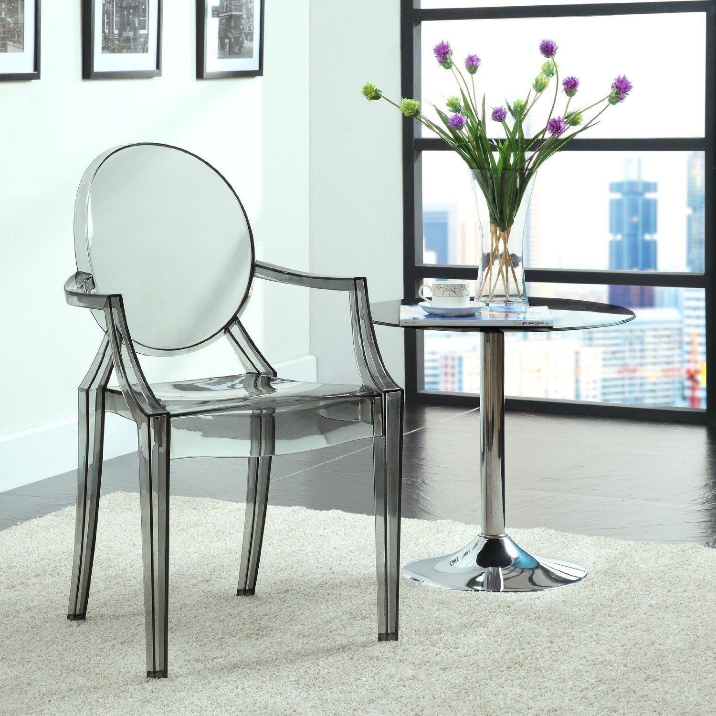 Прозрачный кухонный стул