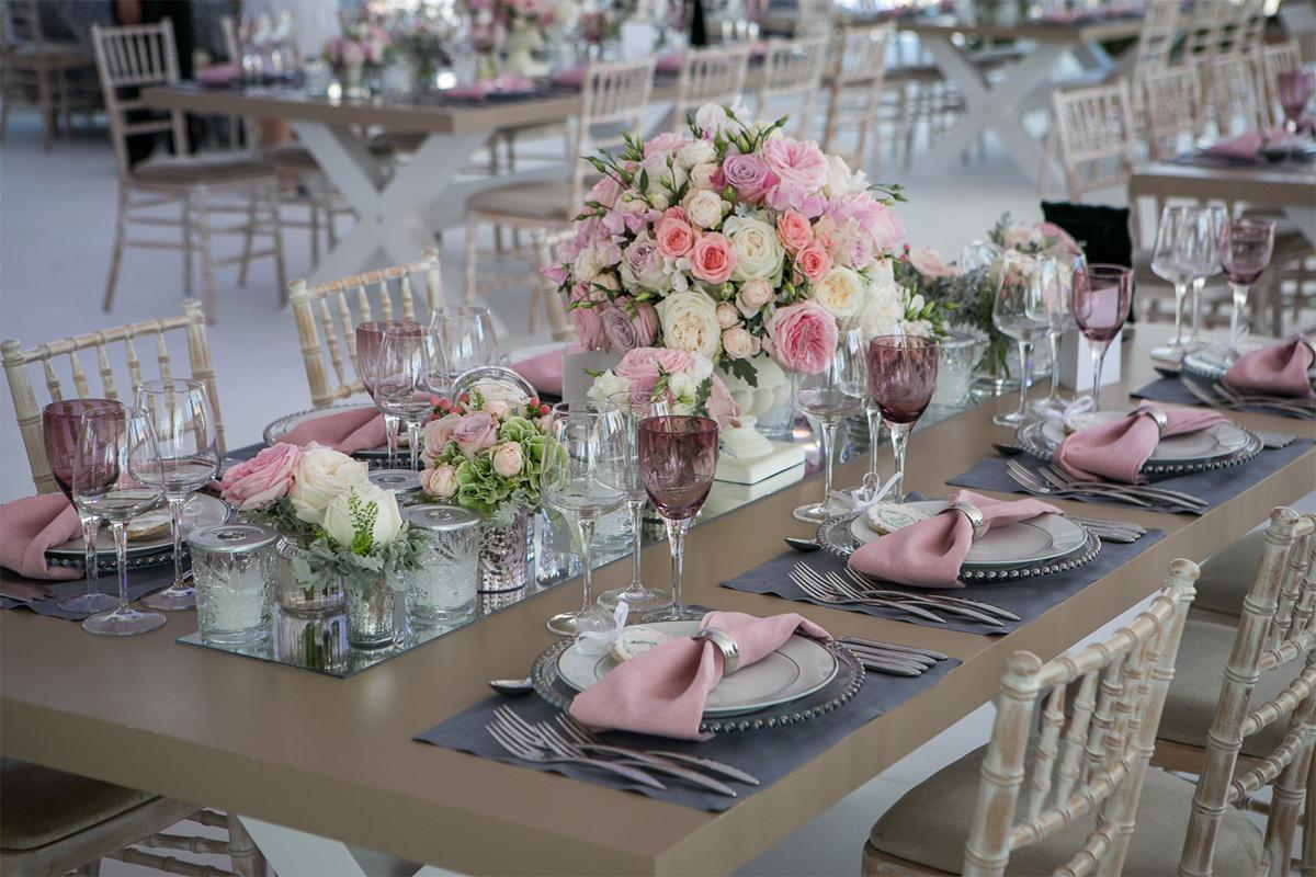 Сервировка стола свадебного