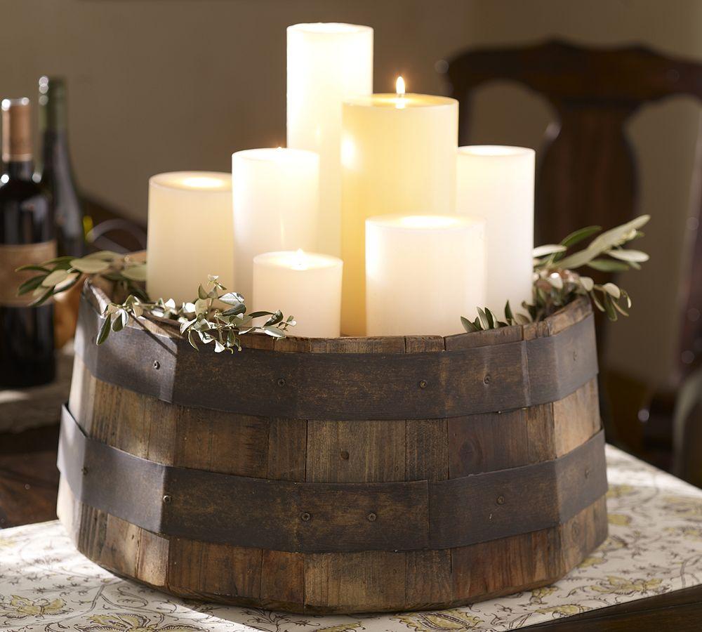 Так можно украсить свечами деревенский интерьер