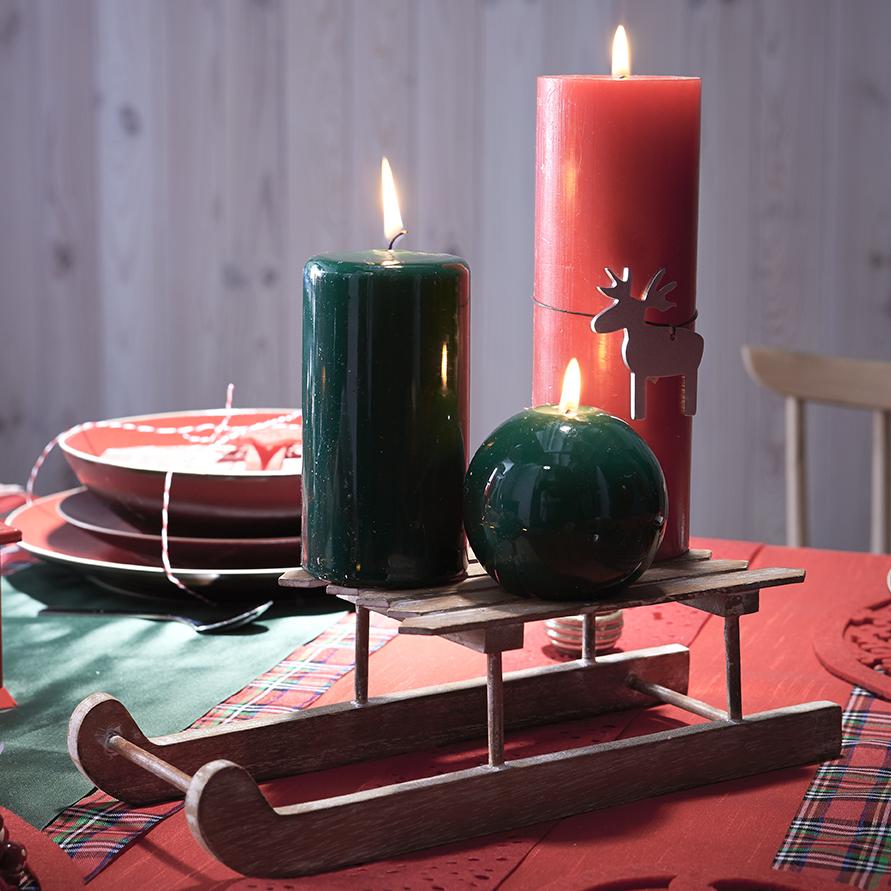 Сервировка стола свечами