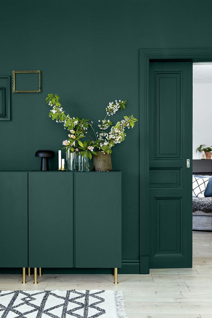 Темно-зеленый цвет в интерьере