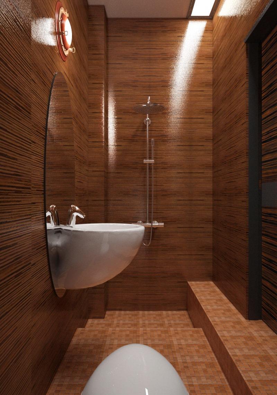 Потолочный и настенный светильники в ванной