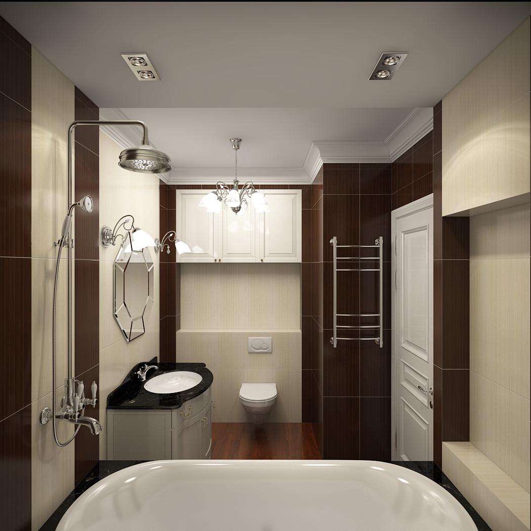 Плитка под паркет в ванной в стиле модерн