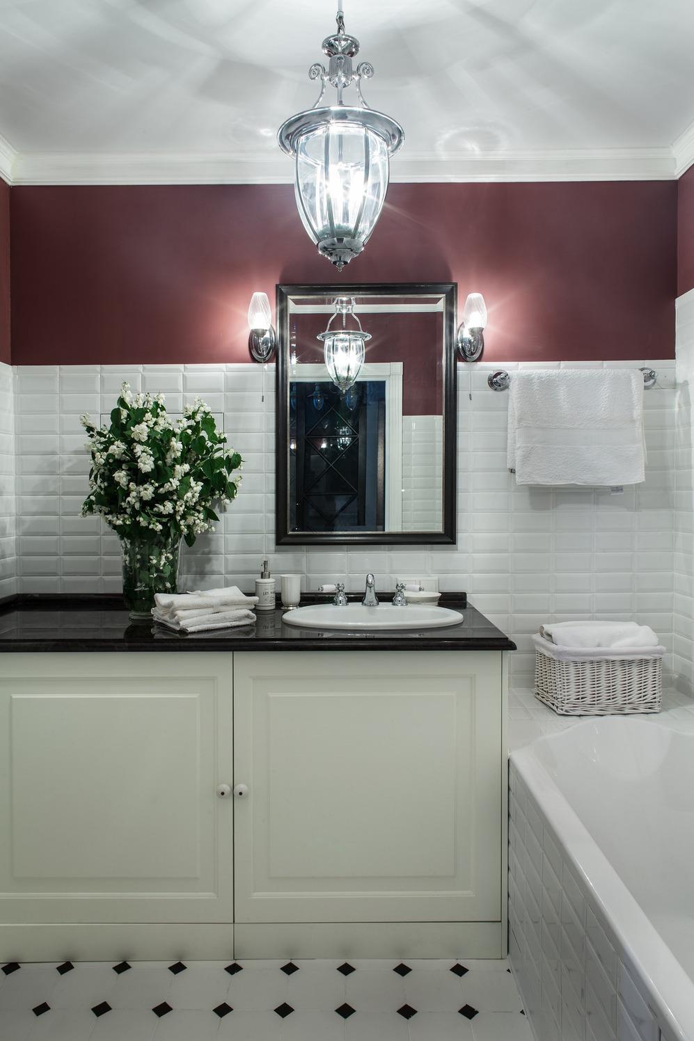 Современный интерьер ванной в стиле прованс