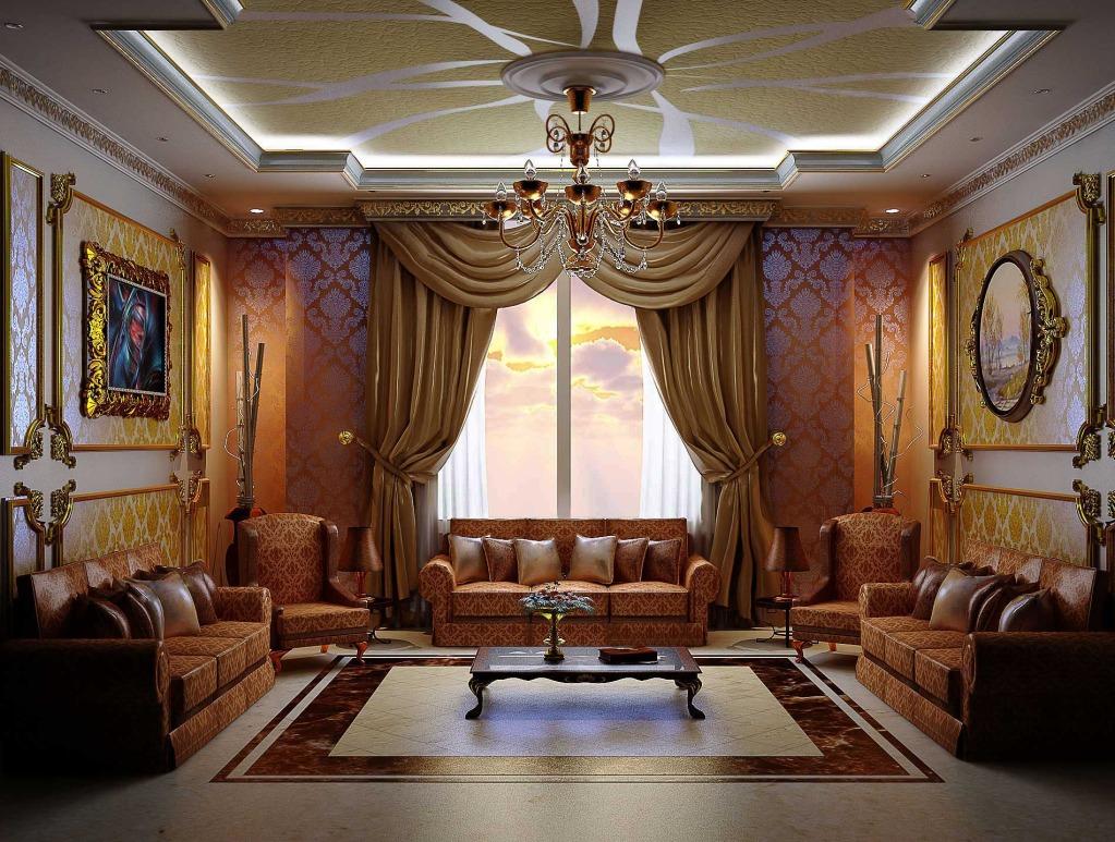 Эффектная гостиная в викторианском стиле
