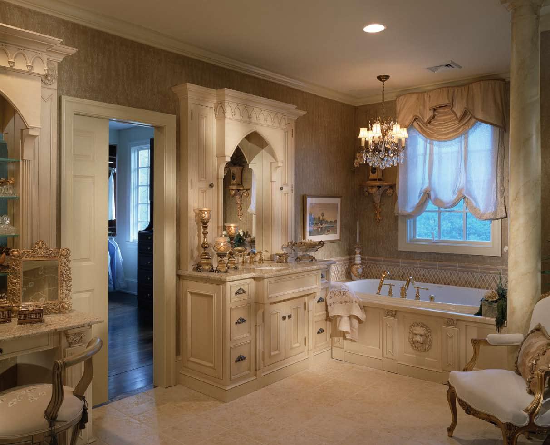 Плитка на полу в ванной в викторианском стиле